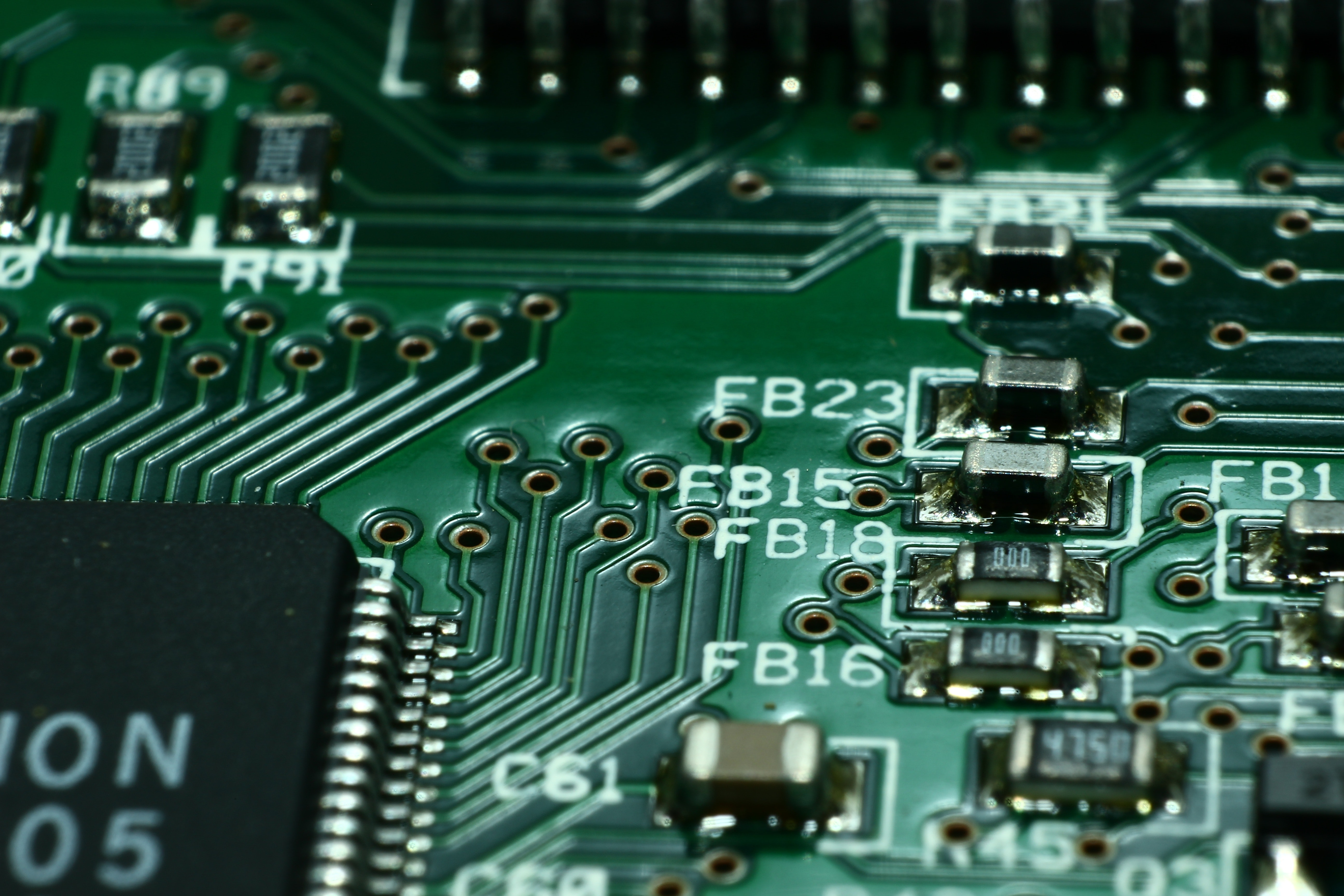 Stock Photo of a non descript circuit board close up