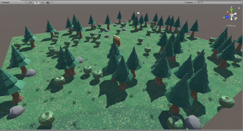Screenshot of Hunt and Gather an entry for Ludum Dare 45