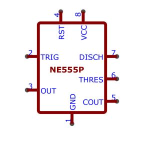 NE555P symbol as used in schematics