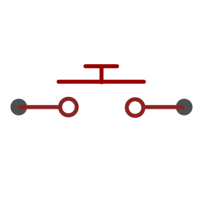Button symbol as used in schematics