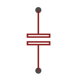 Non polarised capacitor symbol as used in schematics