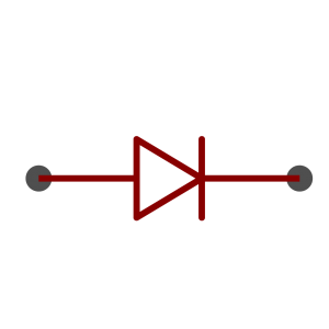 Diode symbol as used in schematics