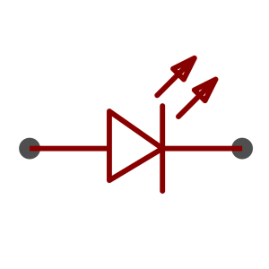LED symbol as used in schematics