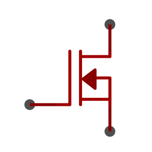N-Channel MOSFET symbol as used in schematics