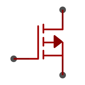 P-Channel MOSFET symbol as used in schematics