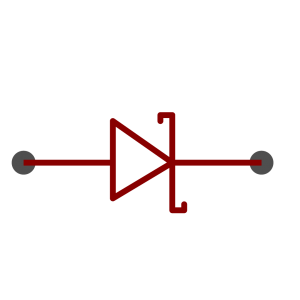 Schottky diode symbol as used in schematics