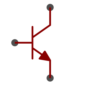 NPN BJT transistor symbol as used in schematics